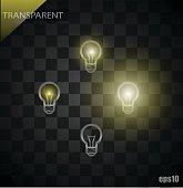 Light bulbs set vector illustration