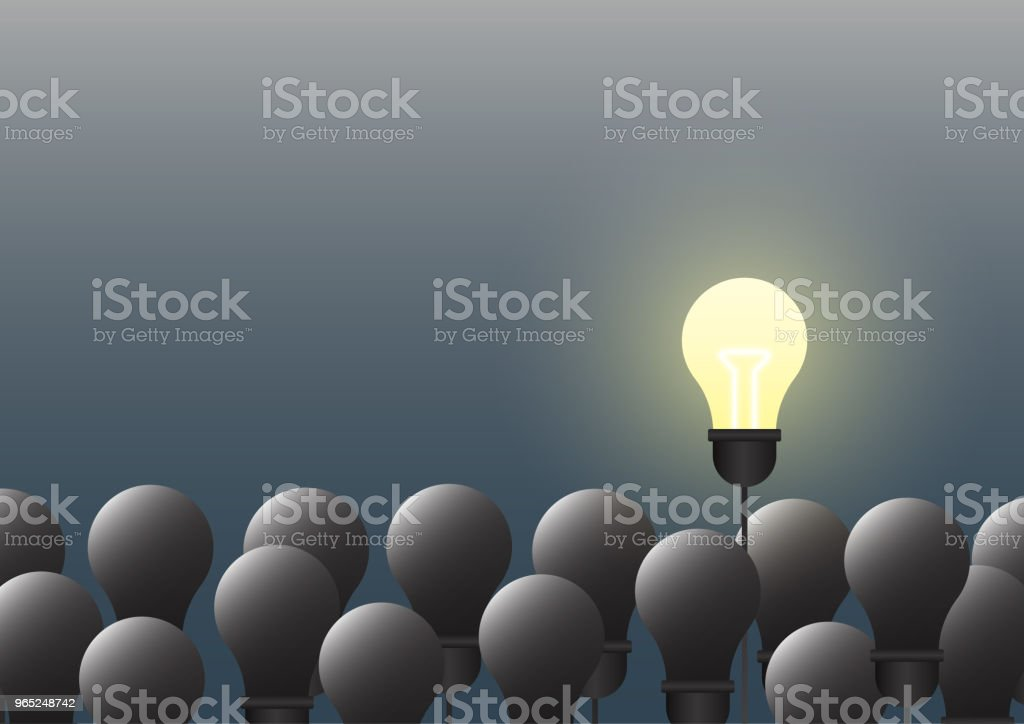 Light bulbs with creative ideas teamwork and leadership concept. royalty-free light bulbs with creative ideas teamwork and leadership concept stock vector art & more images of abstract