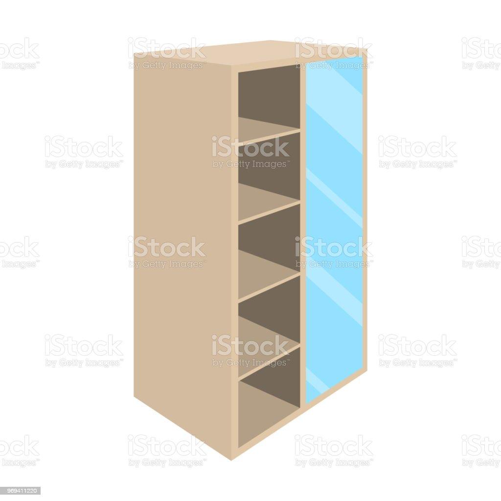 Lichte Kast Met Bakken En Spiegel Garderobe Voor