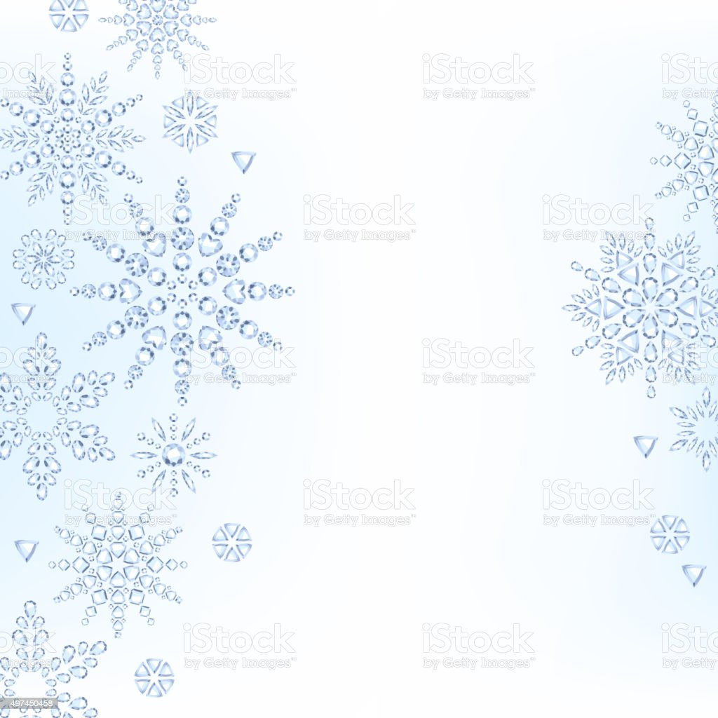 light christmas new year winter snowflakes background stock vector