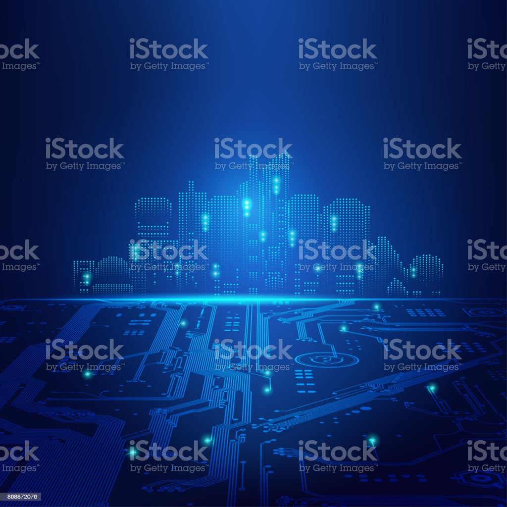light city vector art illustration