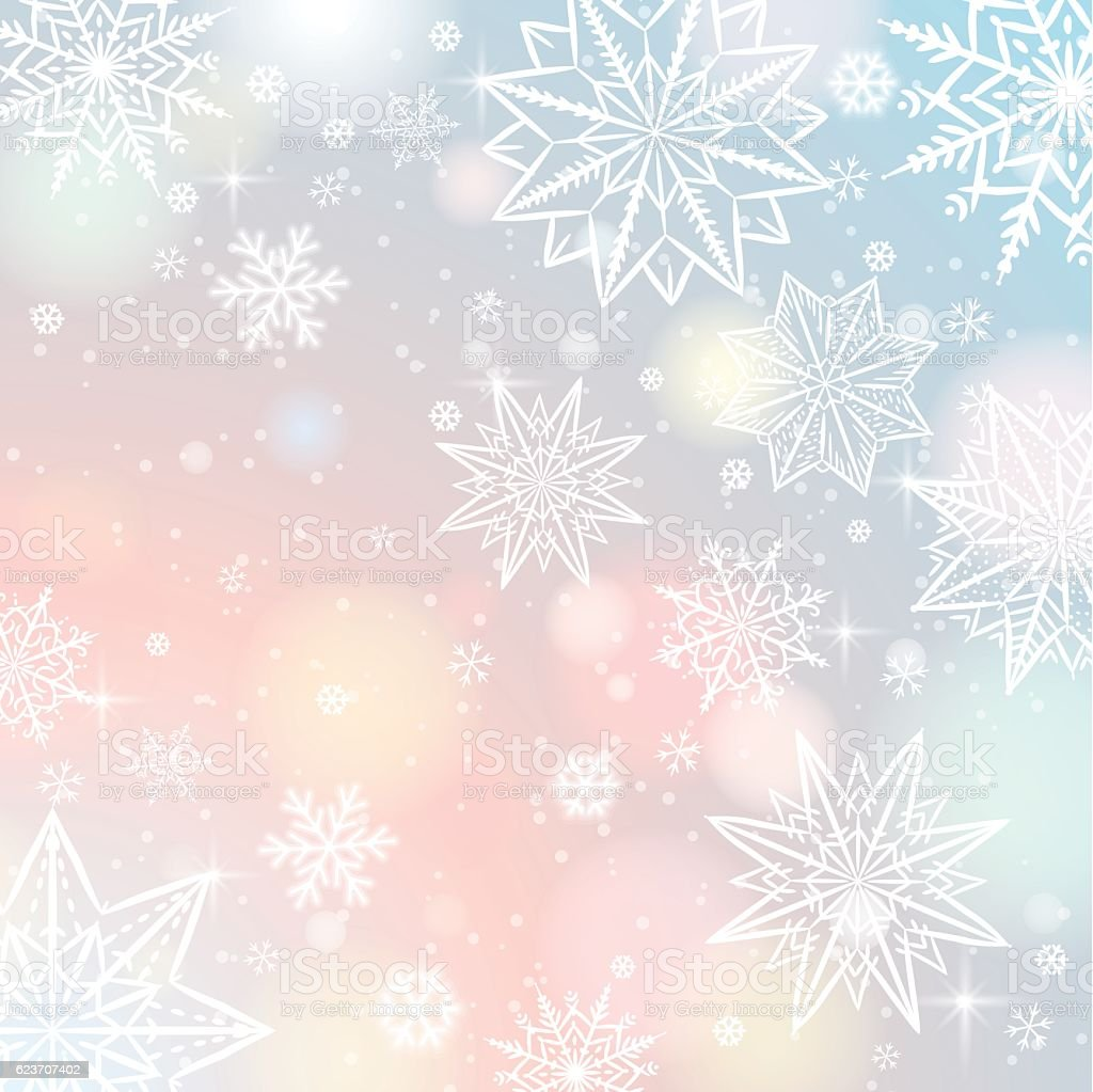 Free snowflake background vector art free vector download