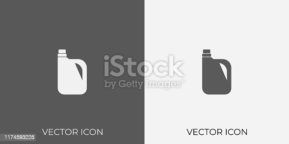 Light & Dark Gray Icon of For Oil Can.