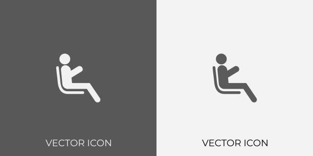 illustrations, cliparts, dessins animés et icônes de icône de la lumière et du gris foncé du passager pour mobile, logiciel et app. eps. 10. - passager