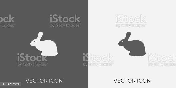 Light dark gray icon of rabbit for mobile software app eps 10 vector id1174592280?b=1&k=6&m=1174592280&s=612x612&h=s6zsdszhmeyxo26 xzi9xfomdwk35ojnusf9agyl hk=