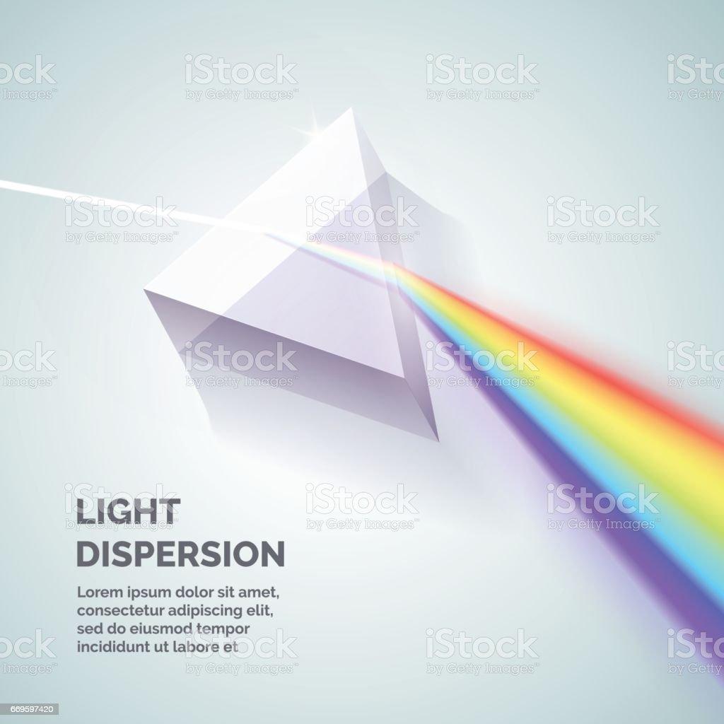 Light dispersion illustration vector art illustration