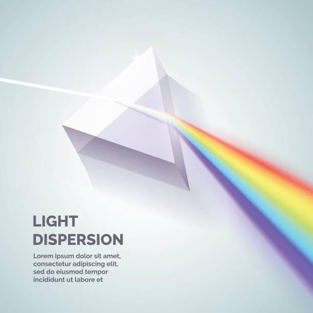 光の分散の図 - プリズム点のイラスト素材/クリップアート素材/マンガ素材/アイコン素材