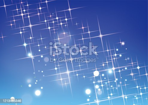 Glittering stars and light background material