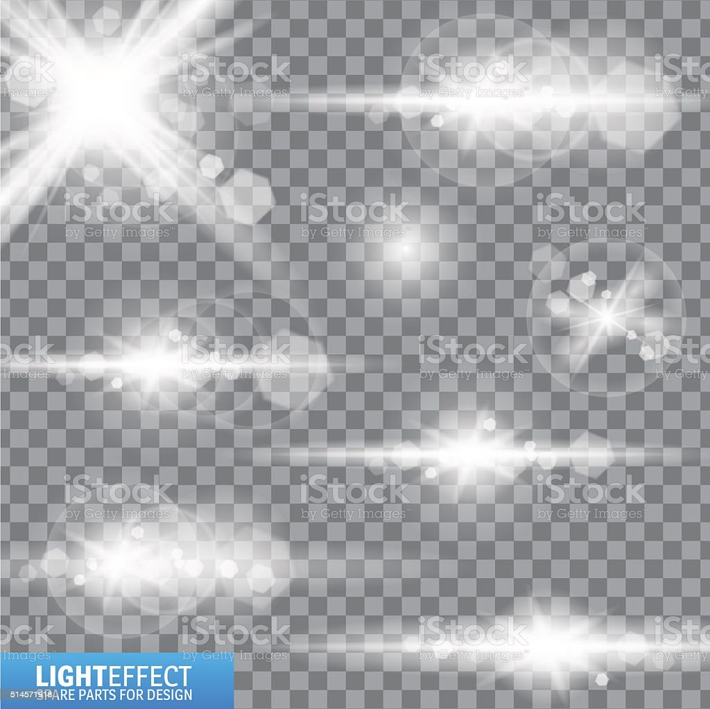 Light effect, flare, lighting. Spare parts for illustration. vector art illustration