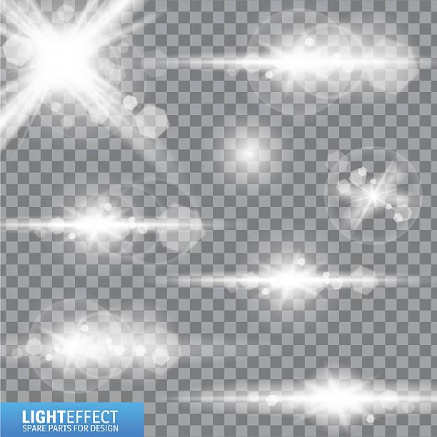 lichterscheinung, flackern, beleuchtung. ersatzteile für illustrationen. - urlaubsaktivitäten stock-grafiken, -clipart, -cartoons und -symbole