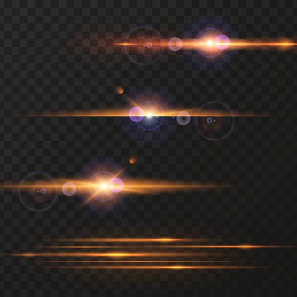 Light effect, flare, lighting. Vector illustration of sunshine, light effect on a transparent background. Design element. setter athlete stock illustrations