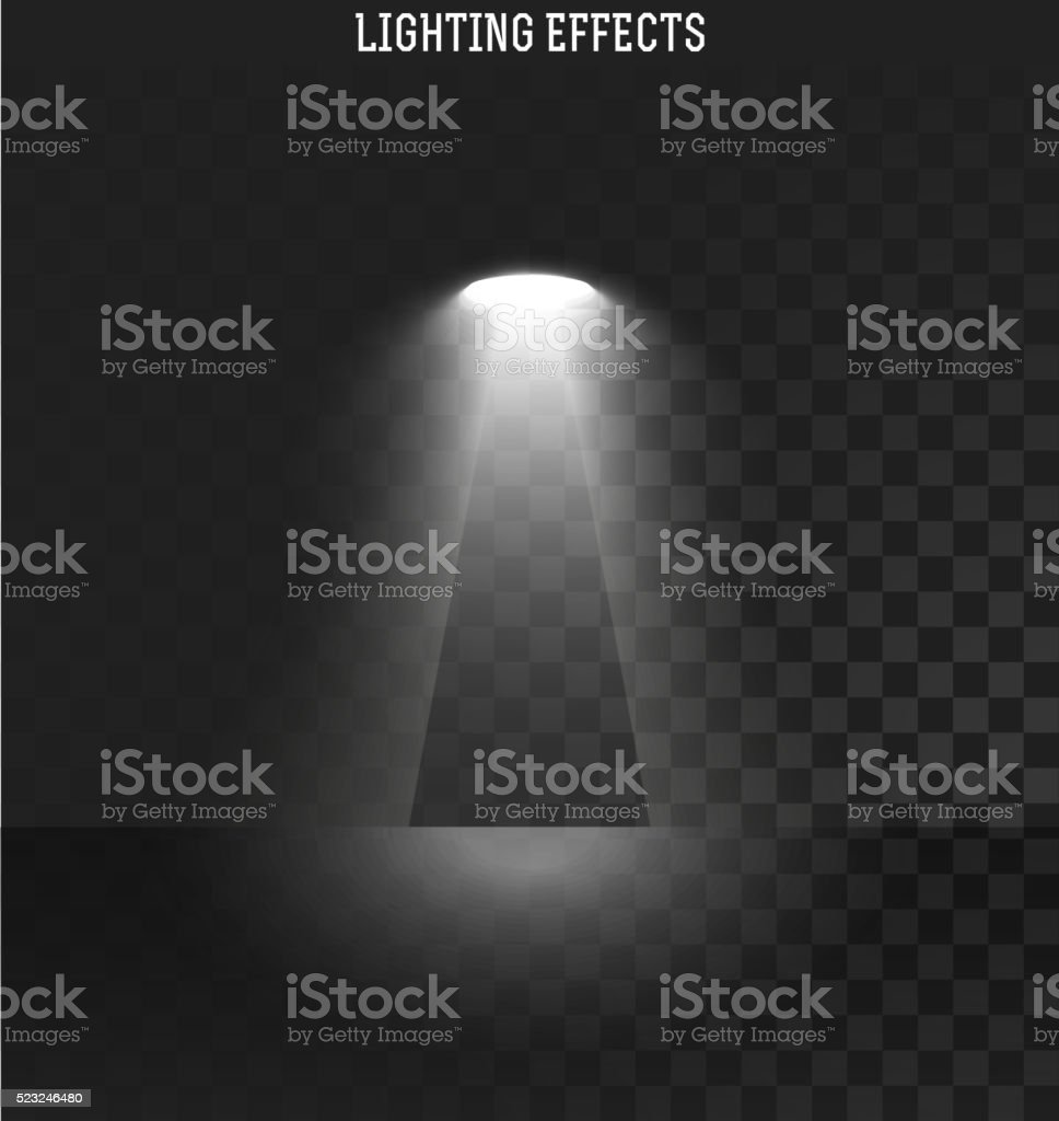 Light effect. Ies light from the projector realistic isolated . Ies...
