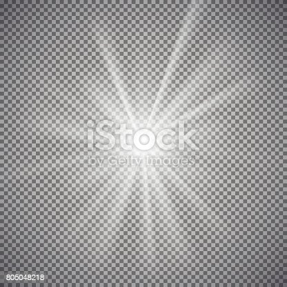 istock Light effect on transparent background 805048218