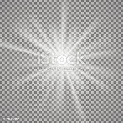 istock Light effect on transparent background 827536852