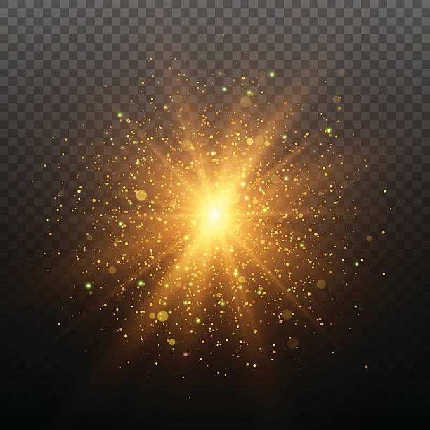 Light effect. Star burst with sparkles. Gold glitter texture Light effect. Star burst with sparkles. Gold glitter texture. EPS10 light effect stock illustrations