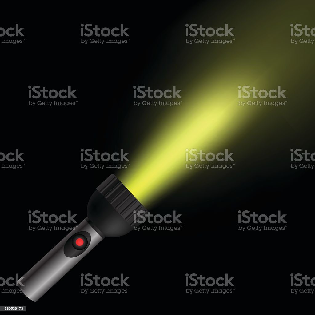 light flash vector art illustration