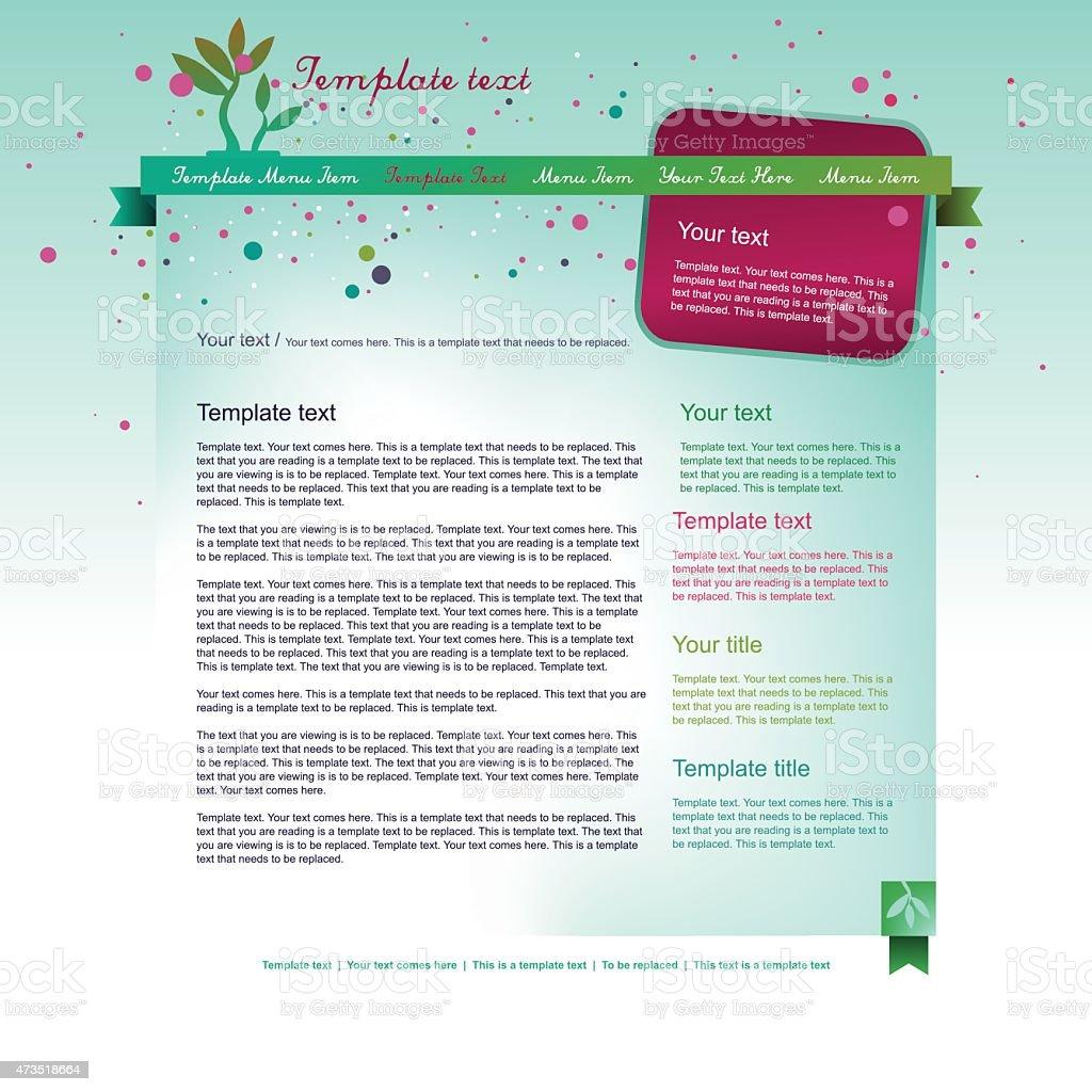 light floral webpage design vector art illustration