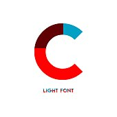Light Font Vector Template Design Illustration