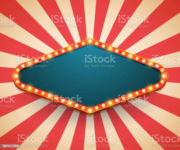 Light frame shining retro billboard casino poster vintage style vector id992042698?b=1&k=6&m=992042698&s=612x612&h=wqyy4xntbk ojq3pxfaipyz9jv2qjjogjz xqn9uoa4=