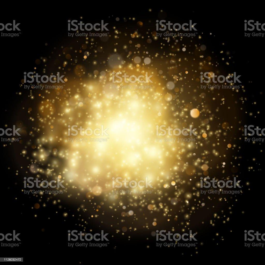 Light gleaming effect. Soft realistic fireworks with glitter splatter...