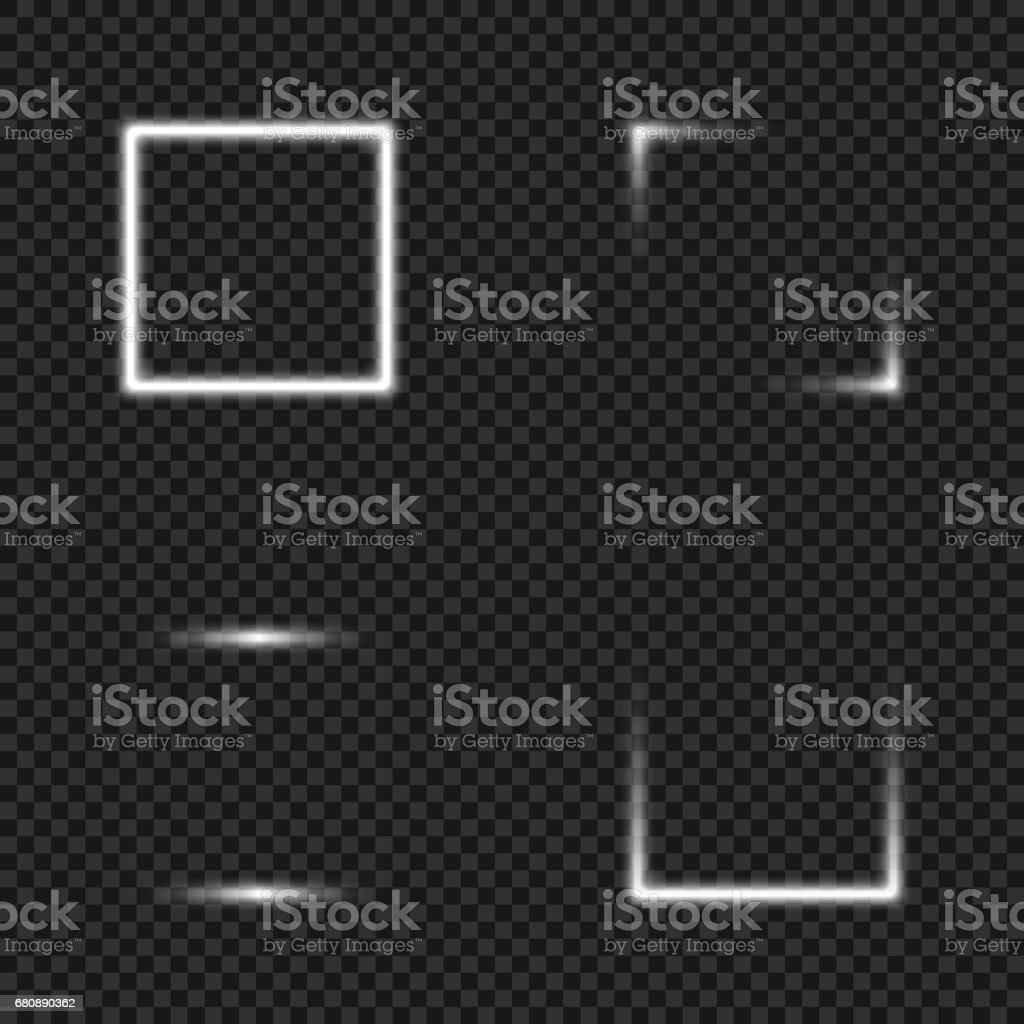 Light glowing Squares Set for Your Design royalty-free light glowing squares set for your design stock vector art & more images of abstract