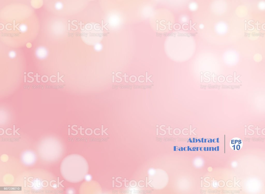 Light gradient pink background with round bokeh vector art illustration