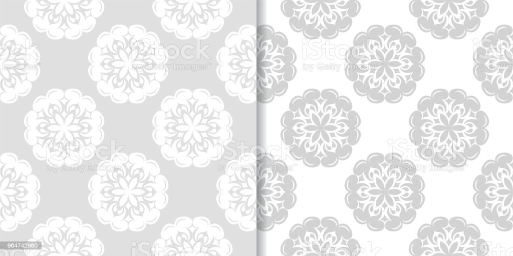 Light gray and white floral seamless ornaments royalty-free light gray and white floral seamless ornaments stock vector art & more images of abstract