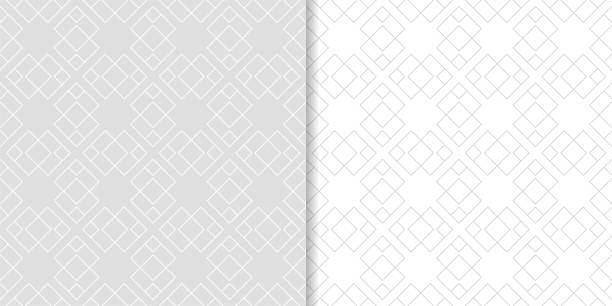 Bекторная иллюстрация Light gray geometric ornaments. Set of seamless patterns