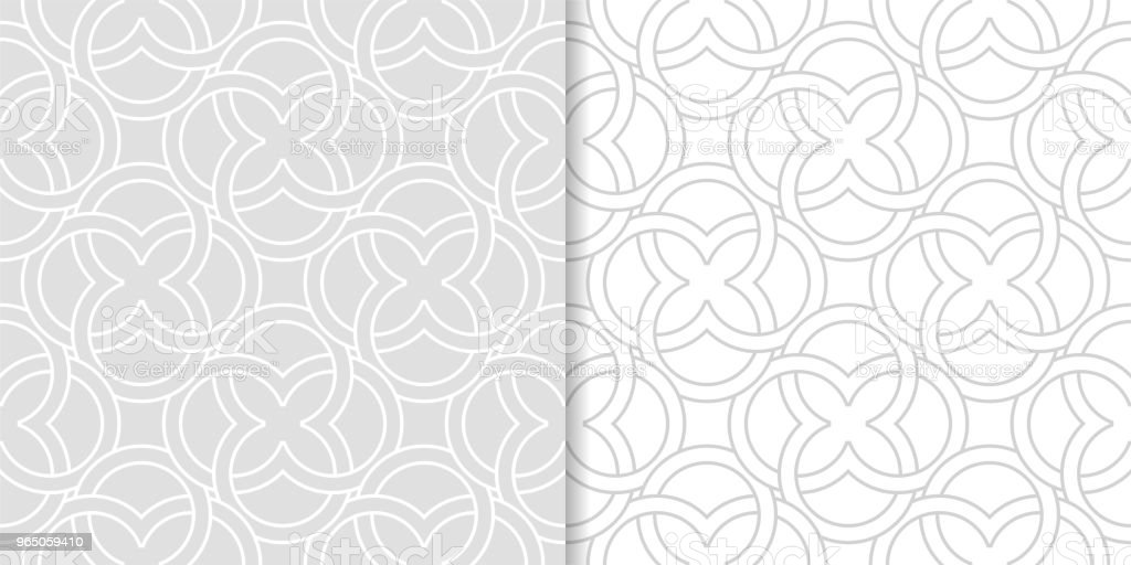 Light gray geometric ornaments. Set of seamless patterns royalty-free light gray geometric ornaments set of seamless patterns stock vector art & more images of abstract