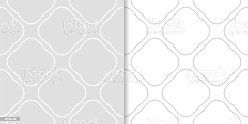 Light gray geometric prints. Set of seamless patterns light gray geometric prints set of seamless patterns - stockowe grafiki wektorowe i więcej obrazów abstrakcja royalty-free