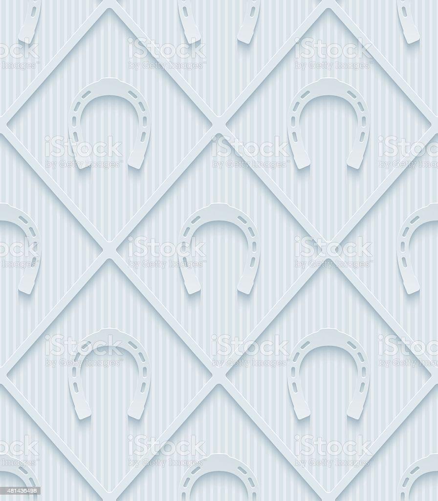 Light gray horseshoes wallpaper.