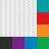 Light Gray Isometric Chevron Patterns set. Neutral Seamless Herringbone Wallpaper Pattern