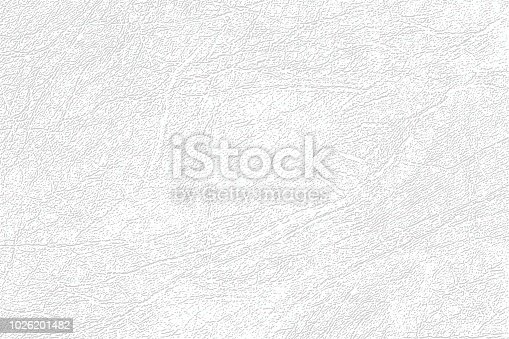 Colored  skin texture, natural or faux white leather background. Light gray leatherette, closeup.