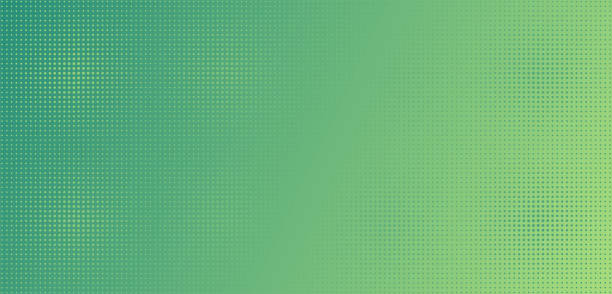 light green dots on green gradient. - wzory i tła stock illustrations