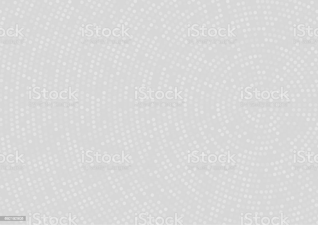 Light grey abstract doted Background with radial halftone effect vector art illustration