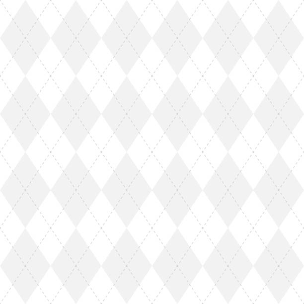 Light grey argyle seamless pattern background.Diamond shapes with dashed lines. Simple flat vector illustration Light grey argyle seamless pattern background.Diamond shapes with dashed lines. Simple flat vector illustration. tartan pattern stock illustrations