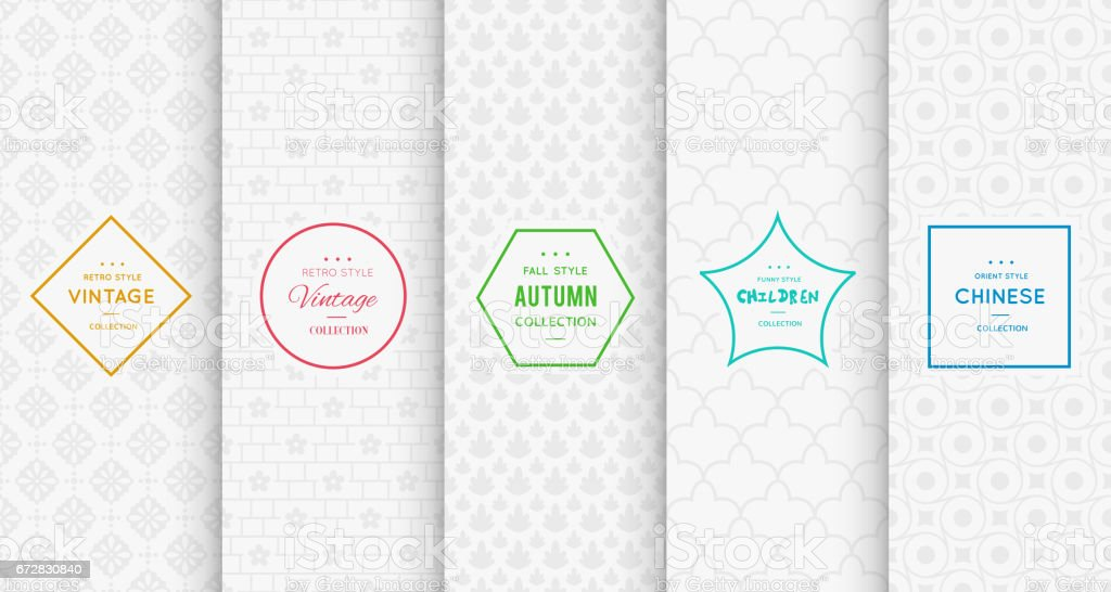 Light grey seamless patterns for universal background vektorkonstillustration