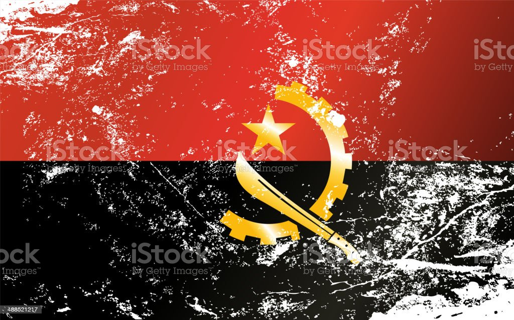 Light grunge effect flag of Angola royalty-free light grunge effect flag of angola stock vector art & more images of abstract