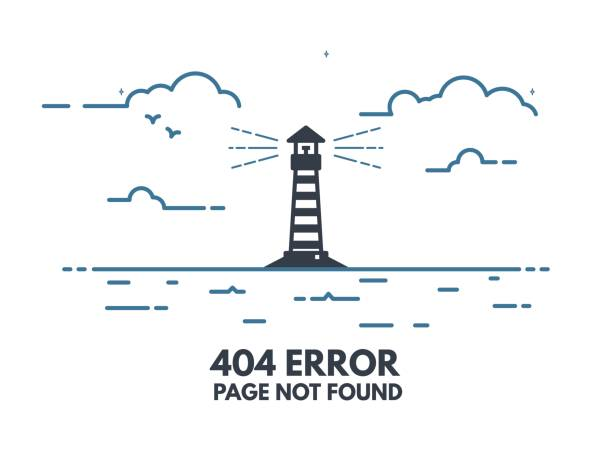 leuchtturm 404 - computergrundlagen stock-grafiken, -clipart, -cartoons und -symbole