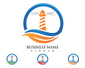Light House Logo Template icon vector illustration