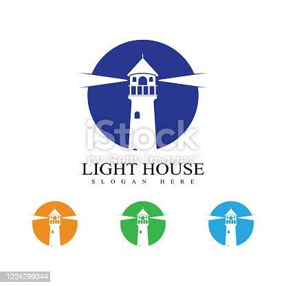 light house logo template vector icon