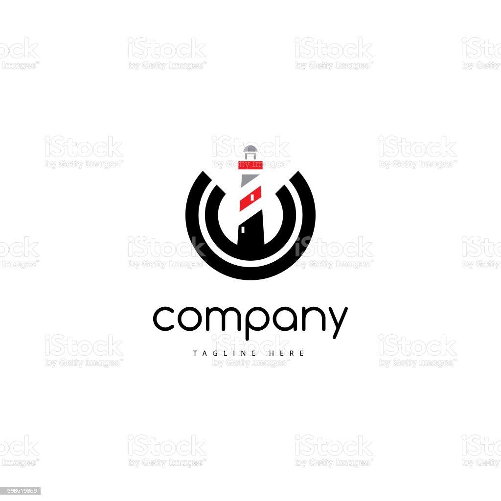 Light House logo vector art illustration