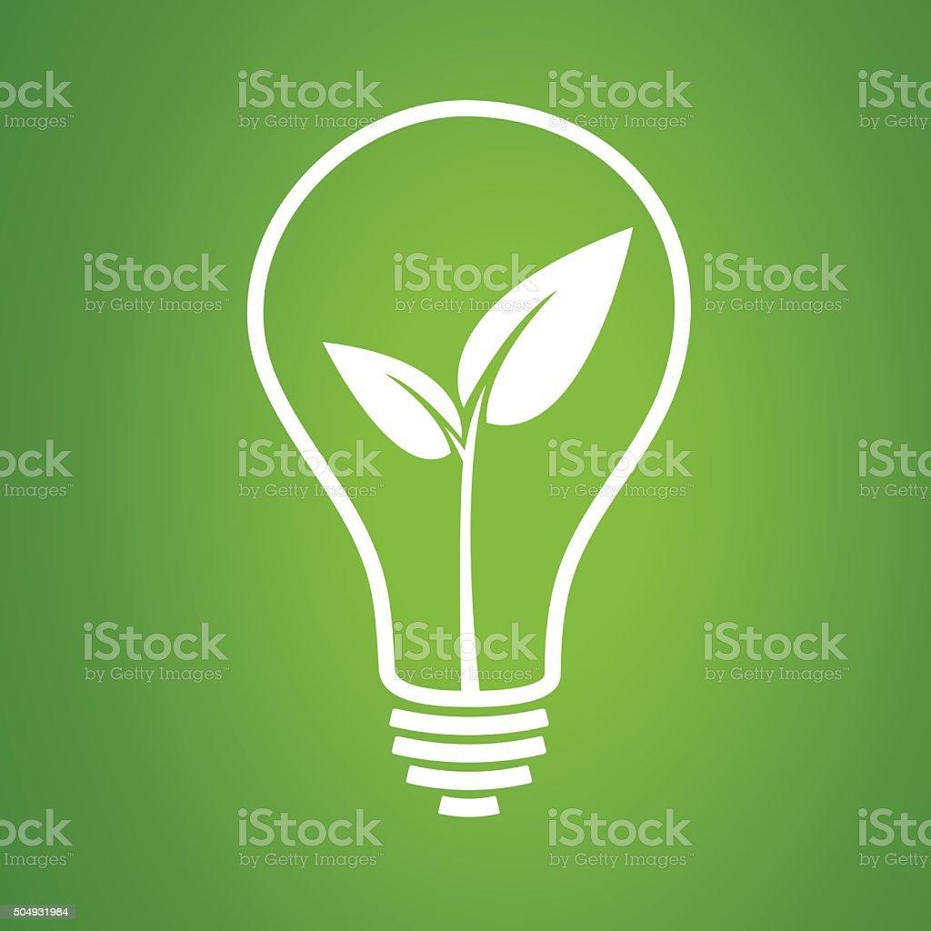 Light bulbs hanging down illustration on green background.