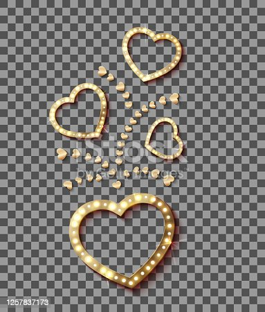 Light in Heart. Retro Style Banner Hollywood Film Romantic for your design. Vector illustration eps 10