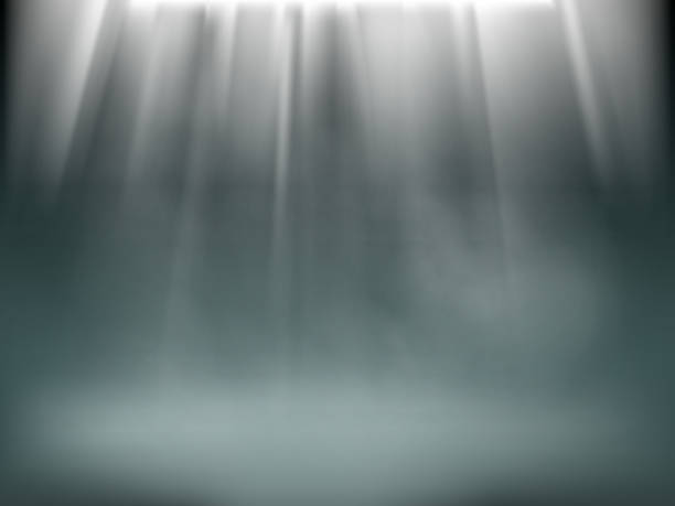 light in the darkness. - туман stock illustrations