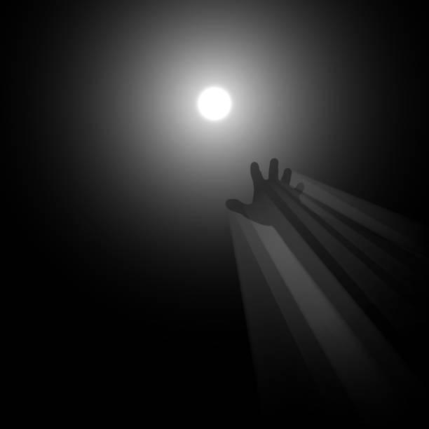 stockillustraties, clipart, cartoons en iconen met licht in de illustratie van het eind concept - zelfmoord