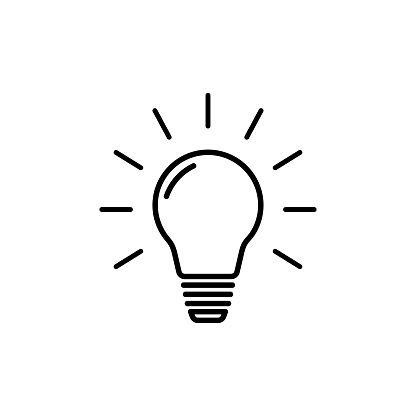 light lines icon on white background, vector