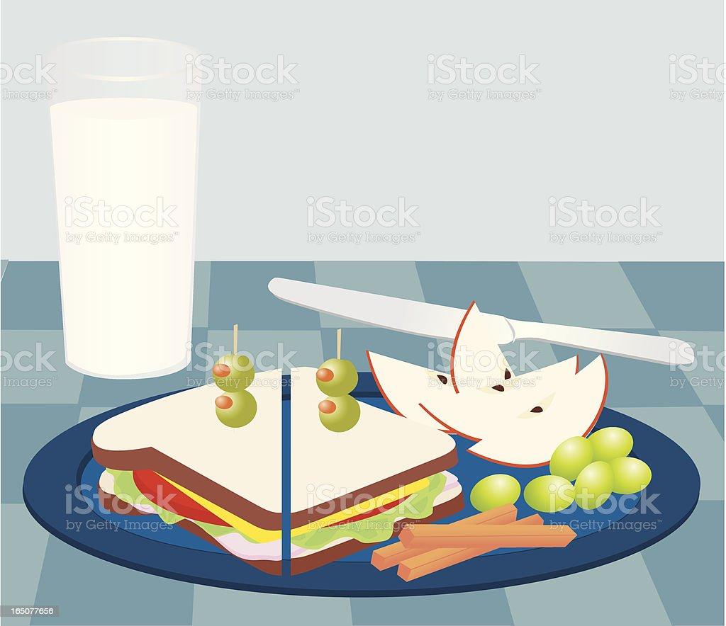 Light Lunch royalty-free stock vector art