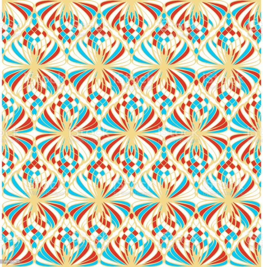 Light Mosaic Seamless Pattern vector art illustration