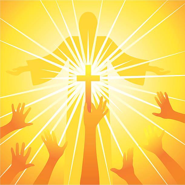 Light of spirituality Christian religion  god stock illustrations